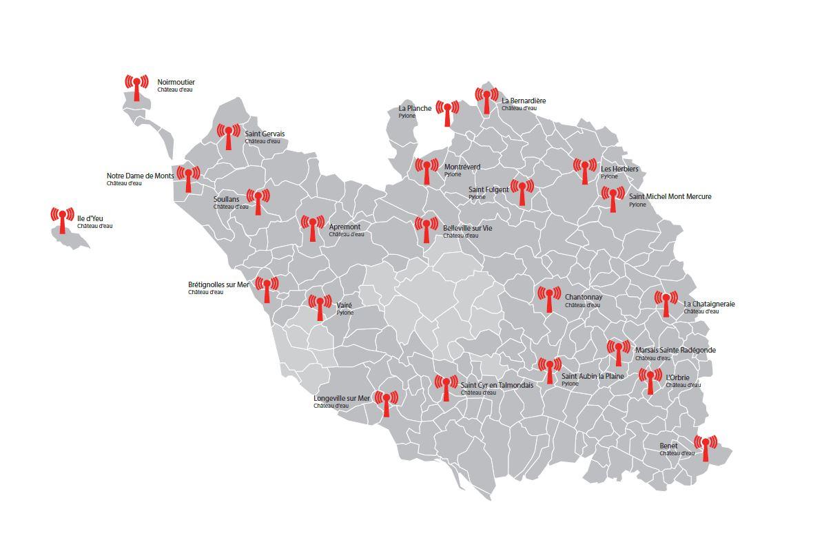 Carte THD Radio - Source Vendée Numérique
